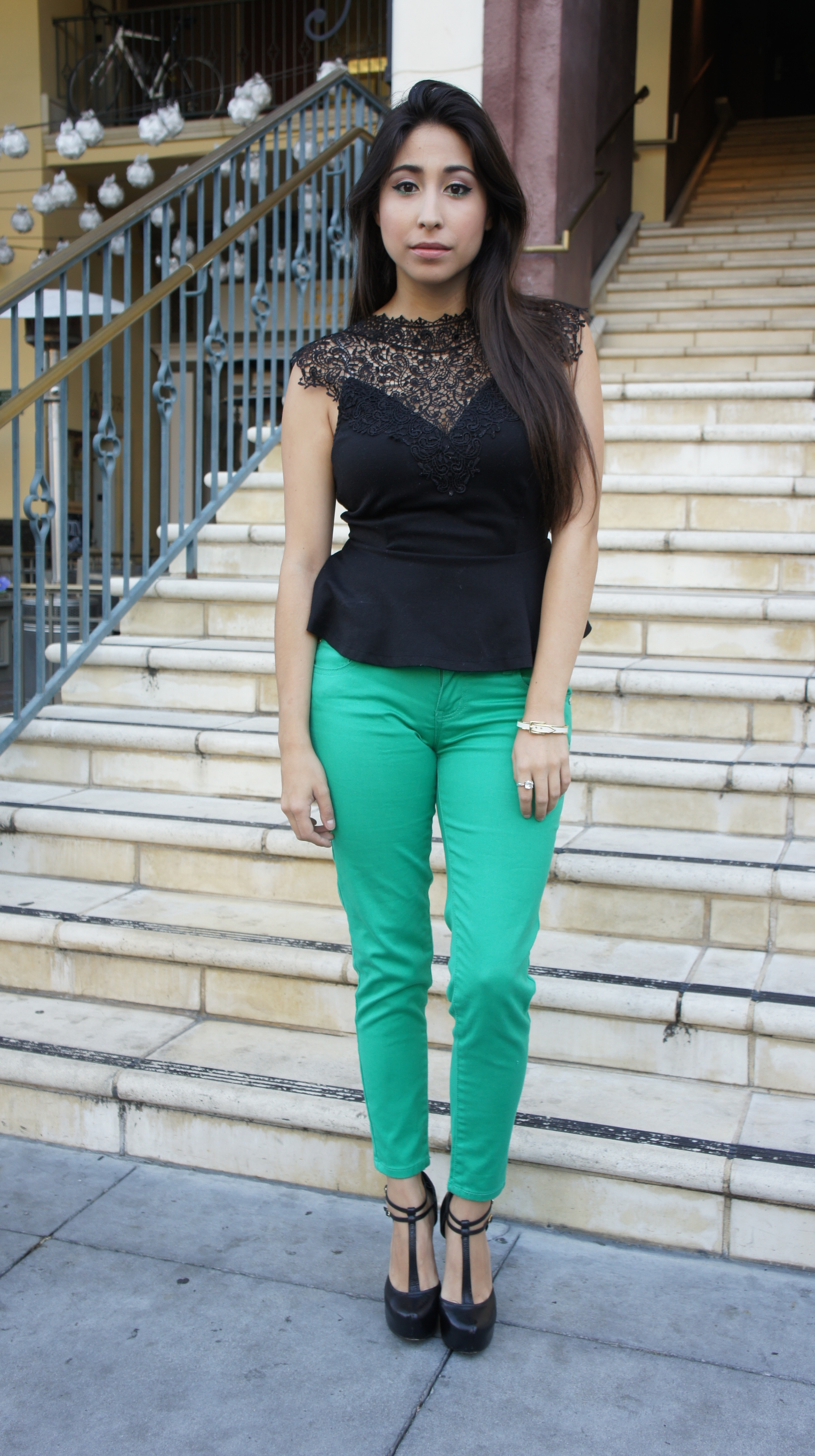outfit ideas with green pants - Pi Pants